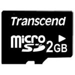 afbeelding Transcend MicroSD without adapter (2 GB)