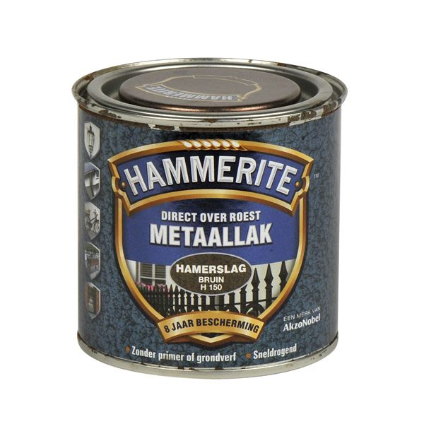Hammerite direct over roest metaallak hamerslag bruin - 250 ml Prijzen ...