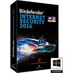 Bitdefender INTERNET SECURITY 2016 3 PC 1 YEAR NLFR