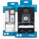 BigBen Interactive Bigben Dubbel Docking Station - Wit / Zwart (Wii + Wii U