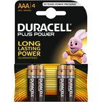 Duracell Batterijen Plus Power, Alkaline, 4 x AAA