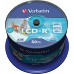 Verbatim CD-R AZO Wide Inkjet Printable - ID Branded