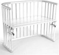 babybay Maxi bed beukenhout massief wit gelakt
