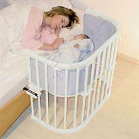 babybay origineel bed extra geventileerd– beukenhout massief wit gelakt