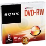 Sony 1x5 DVD-RW 4,7GB 1-2x Speed, Jewel Case