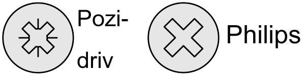 Pozidiv- en philipsschroefkop