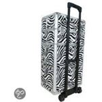 Veronica Nail Products Aluminium visagie nagel make-up cosmetica trolley 3 in 1 ZEBRA