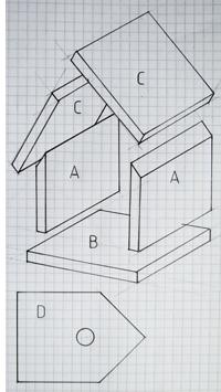 Vogelhuisje bouwplan