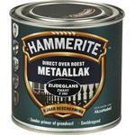 Hammerite direct over roest metaallak zijdeglans zwart - 250 ml