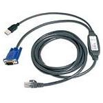 Avocent USB CAT 5 integrated access cable 3m