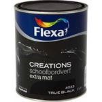 FLEXA Creations - Muurverf Schoolbordverf - 4033 - True Black - 1 liter