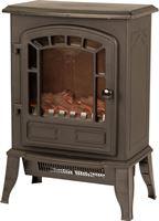 Classic fire Elektrische kachel met openhaard effect Torino zwart