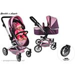 Bandits & Angels Bandits and Angels Purple Angel 2in1 poppenwagen