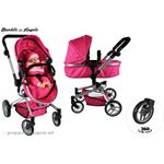 Bandits & Angels Bandits and Angels Pink Angel 2in1 poppenwagen