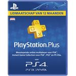 Sony PlayStation Plus Card 1 Jaar Dutch PS4 / PS3 / PSP / PSN