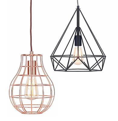 kies je voor een hanglamp met decoratieve elementen een zeer industrile of een meer landelijke lamp de kleur van dit jaar is koper