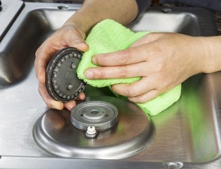 Ingebrand vet verwijderen rvs kookplaat