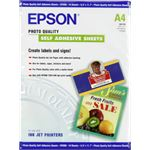 Epson Photo Quality Ink Jet Paper self-adhesive DIN A4 167g/m 10 Vel