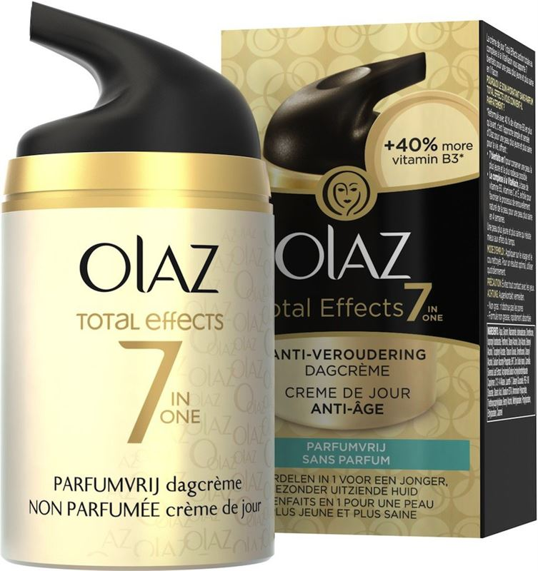 Olaz Total Effects 7-in-1 anti-veroudering Parfumvrij - 50 ml - Dagcrème