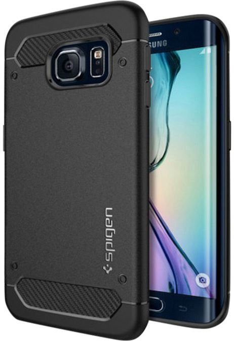 Spigen Rugged Armor PET Samsung Galaxy S6 Edge Zwart