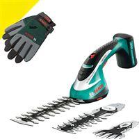 Bosch ASB 10 8 LI Set | Gras/buxusschaar + Bosch tuinhandschoenen - 0600856305