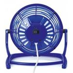 Bellatio Blauwe mini USB ventilator