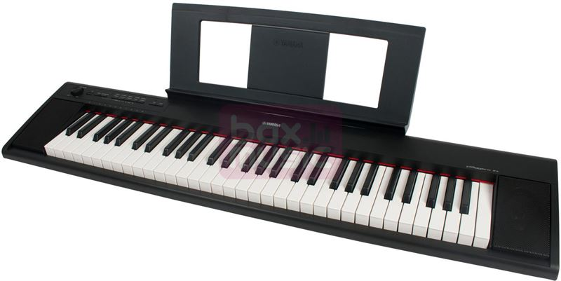 Yamaha NP-12 B Digitale piano Zwart Incl. netvoeding