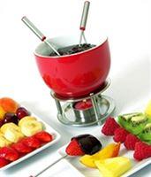 Mastrad Chocoladefondueset - Rood