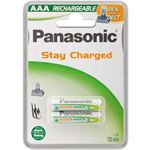 Panasonic 1x2 Accu NiMH Micro AAA 750 mAh Ready to Use DECT