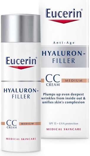 Eucerin Hyaluron filler dagcreme cc cream medium 50ml