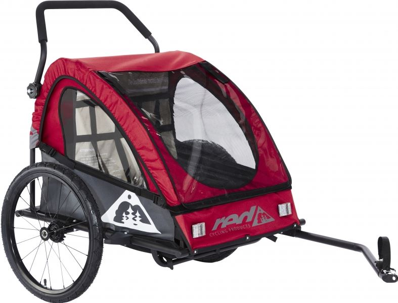 Red Cycling Products Kids BikeTrailer fietsaanhanger grijs/rood