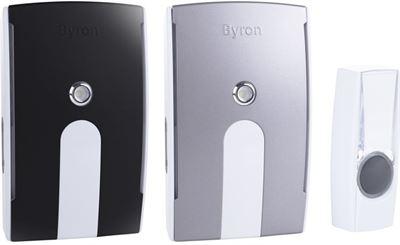 Top Byron BY535E - Draadloze deurbel duopack - 125m - Plug-in deurbel EO93