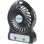 qMust Herlaadbare Portable mini USB Desktop Fan F95 zwart