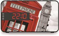 BigBen Stijlvolle wekkerradio met LED display - Londense telefooncel