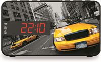 BigBen Stijlvolle wekkerradio met LED display - New Yorkse taxi