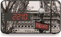 BigBen Stijlvolle wekkerradio met LED display - metro Parijs