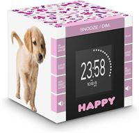 BigBen Wekkerradio met tijdprojectie met schattige hondjes