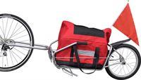 vidaXL Fietskar voor vracht met één wiel en opbergzak