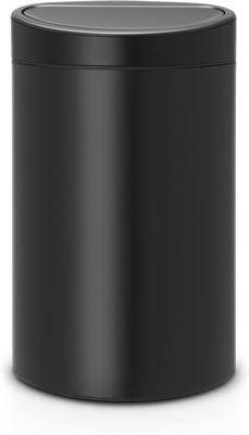 Brabantia Prullenbak 40 Liter.Brabantia Touch Bin Prullenbak 40 L Matt Black Prijzen
