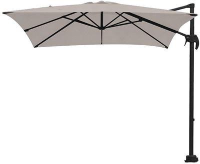 Zweefparasol Vierkant 400x400.Garden Impressions Hawaii S Zweefparasol Mat Royal Grey Frame