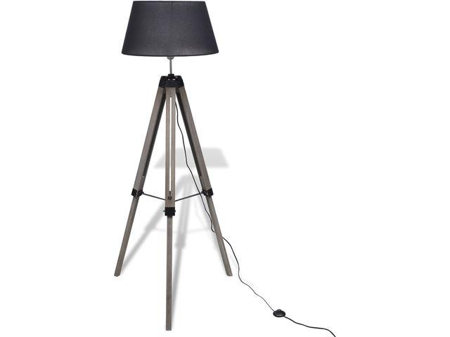 Staande lamp met houten driepoot: tripod floor lamp etsy. tripod