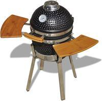 vidaXL Kamado barbecue grill smoker keramisch 76 cm