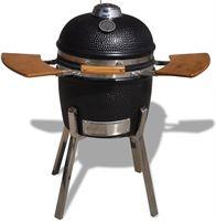 vidaXL Kamado barbecue grill smoker keramisch 81 cm