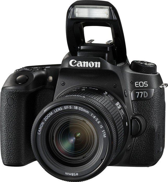 Canon EOS 77D + 18-55mm F4.0-5.6 IS STM zwart