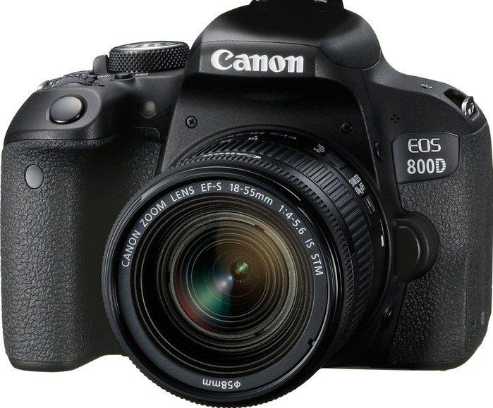 Canon EOS 800D + EF-S 18-55mm 4.0-5.6 IS STM zwart
