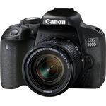 Canon EOS 800D + EF-S 18-55mm 4.0-5.6 IS STM zwart