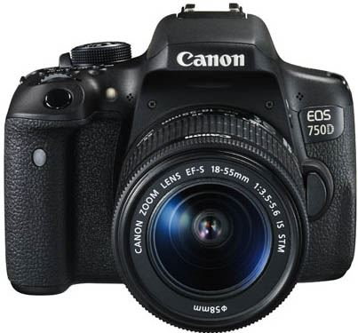 Canon EOS 750D + EF-S 18-55mm IS STM + CS100 zwart