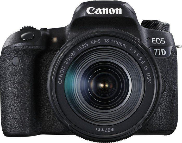 Canon EOS 77D + EF-S 18-135mm 3.5-5.6 IS USM zwart