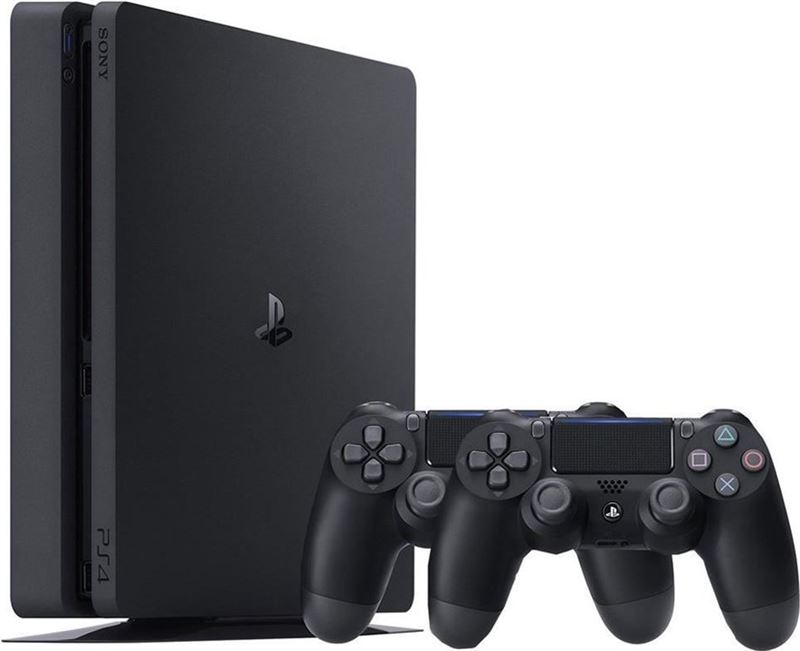 Sony Playstation 4 500GB + 2 Controller zwart