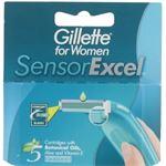 Gillette Women Sensor Excel Scheermesjes 5st